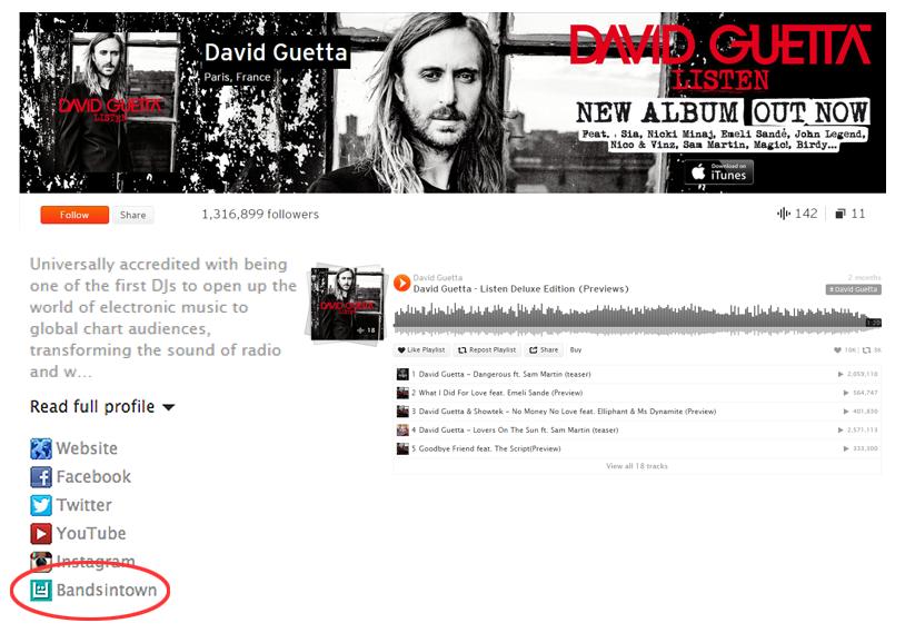 Promote Your Tour Dates On Soundcloud Bandsintown For Artists