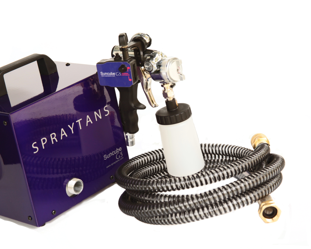 Patented Laser System - EPA Verified Technology to reduce overspray and spray a flawless tan.