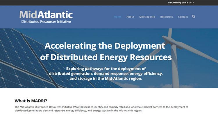 MidAtlantic Distributed Resources Initiative Website