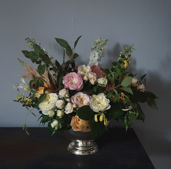 garden rose arrangement