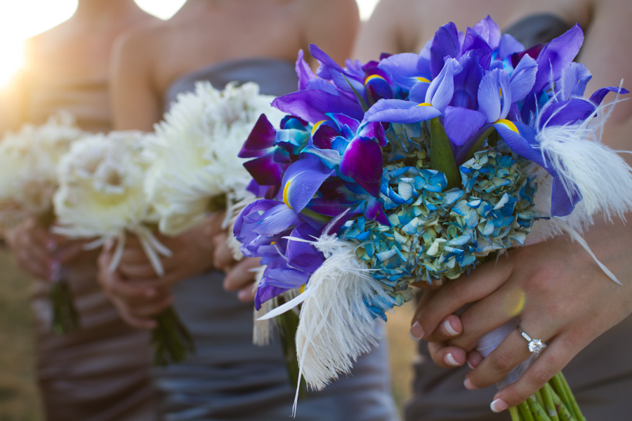 blue iris wedding bouquet ann arbor michigan photography