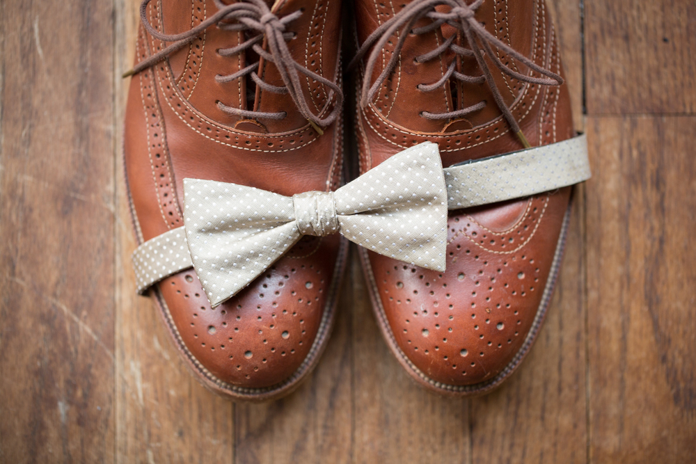 photography of trendy hipster mens wedding details bowtie