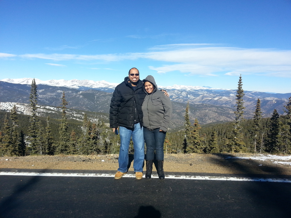 Chub Chub Couple in Idaho Springs, Colorado on Squaw Pass Road near the closed Mount Evans road in January 2014