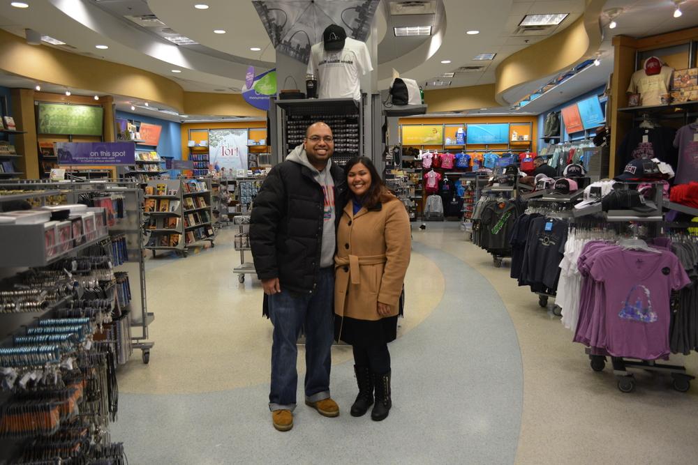 Chub Chub Couple at the gift shop.