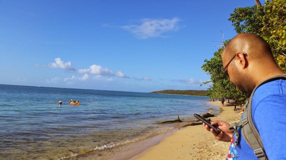 A beach on Fajardo