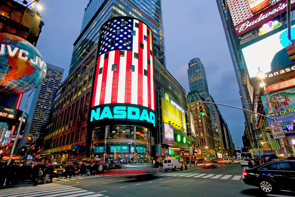 NASDAQ in the heart of Times Square, New York