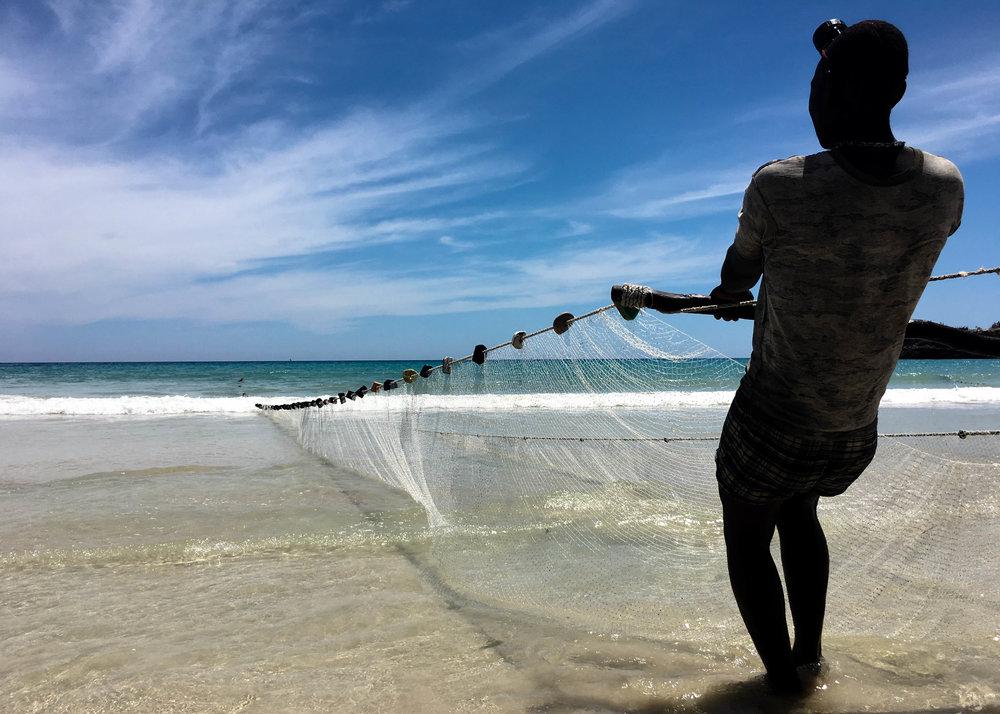 Shore Net Fishing