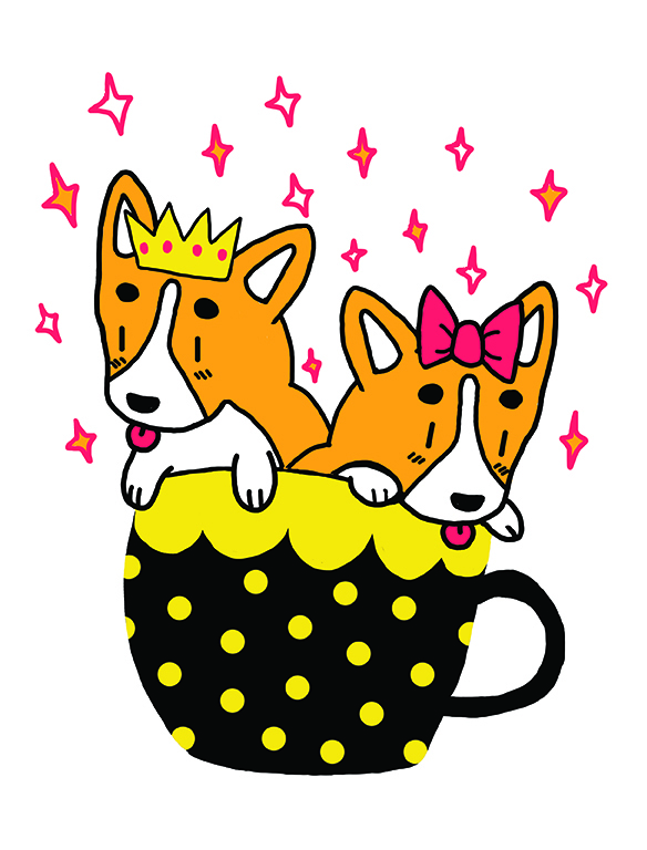 Full-time Consumer of Milk Corgi Tea