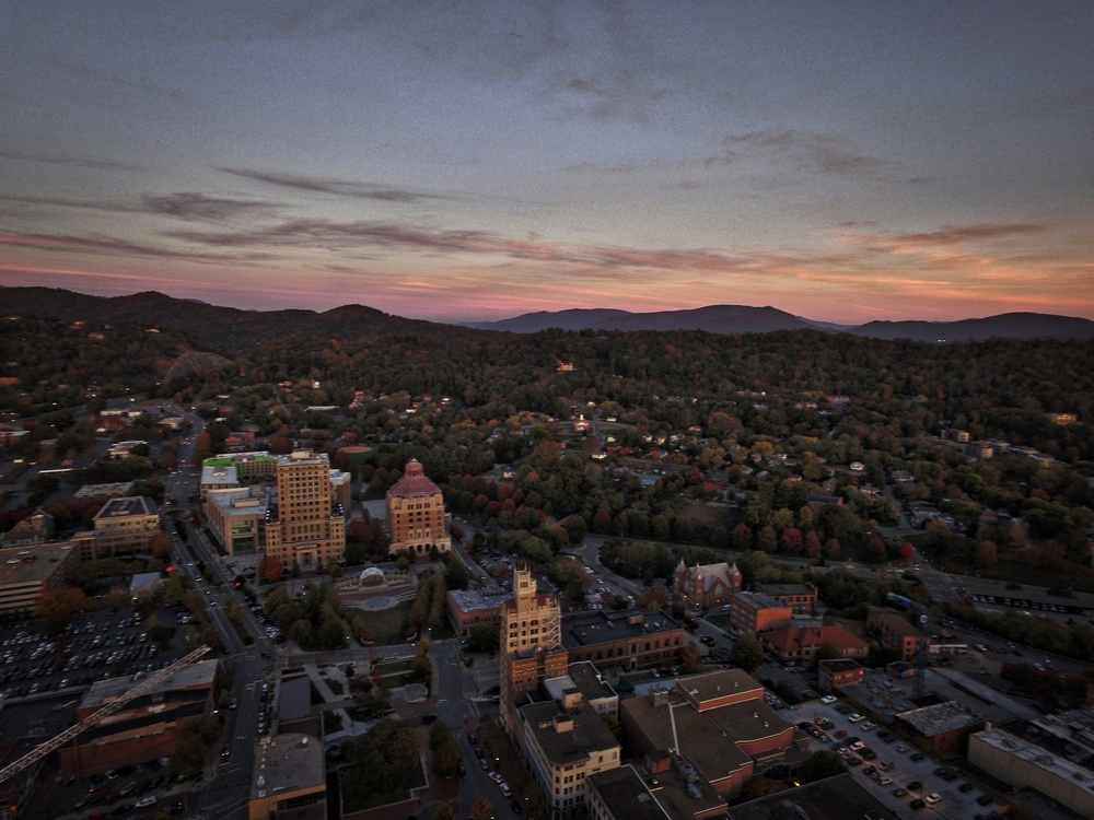 downtown asheville sunset from above.jpeg