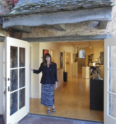 Debi Bennett in front of the reopened Gallery - 2012