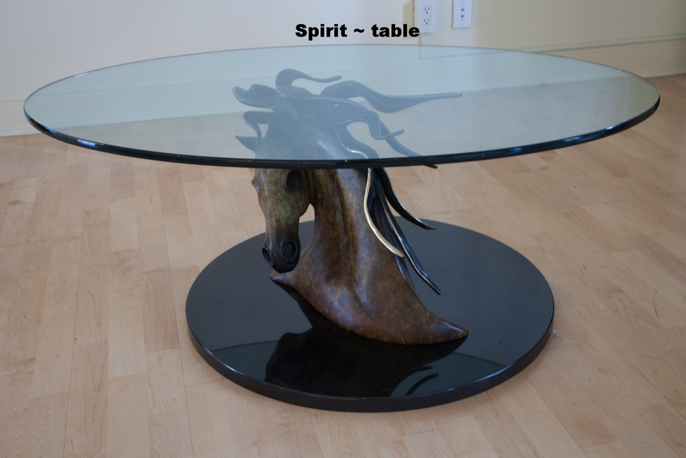 SPIRIT with glass top and base
