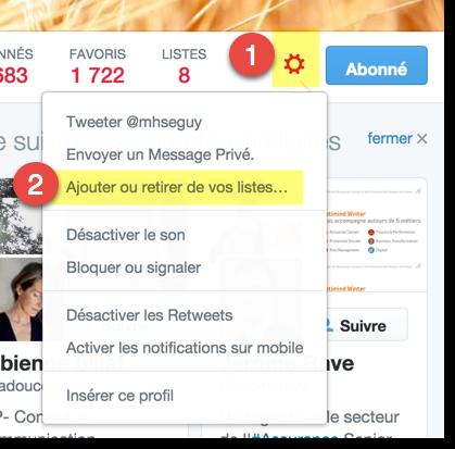 Comment gérer une liste Twitter