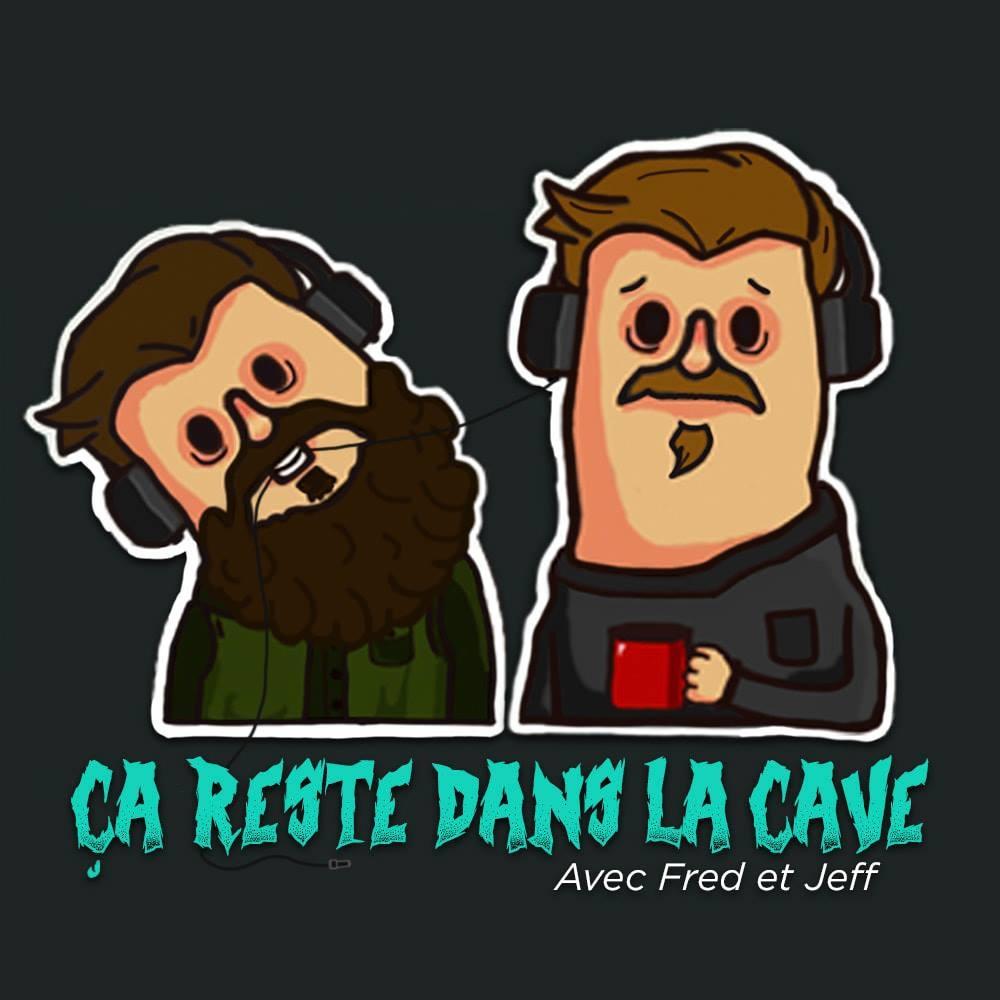 Podcast - Deux gars qui jasent sur un sofa, dans une cave, en buvant du thé.