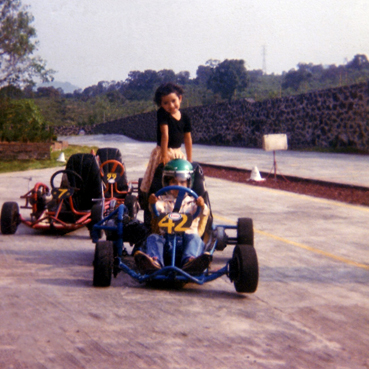 """When I raced go-karts some parents wouldn't like their kids (who were older than me) race against me and even gave me the nickname of """"El Loco"""" (The Crazy)"""