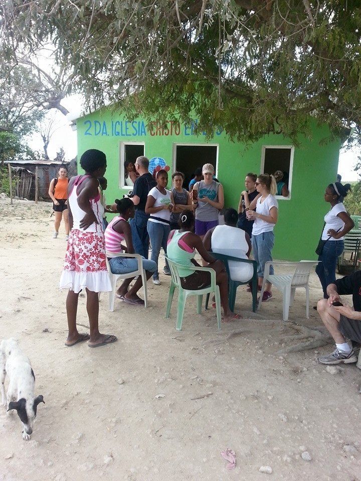 Students walk through villages sharing the message of the Gospel alongside the local church.