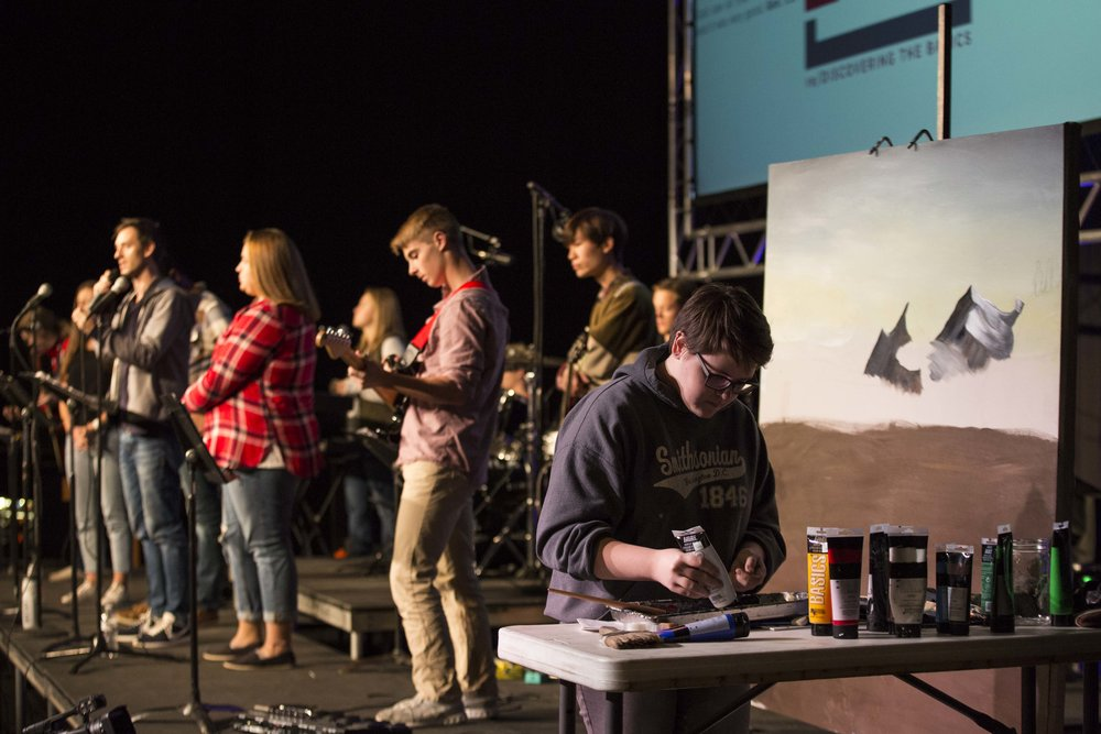 prayer day worship team in positions, sylivia painting.jpg