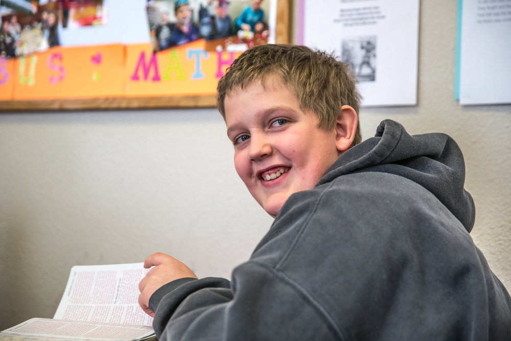 """""""The class is sort of a combination of studying the culture, literature, and the Bible. - It is cool how stuff that was written a long time ago still relates to how we feel today, about wars and good and evil."""" ~Noah Synstelien 