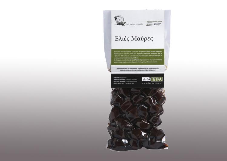 Organic black olives 200gr