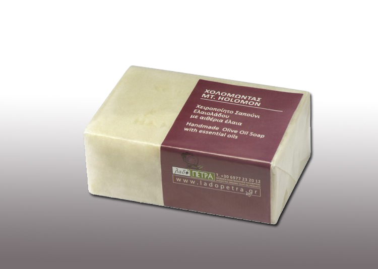 handmade olive oil soap  Mt. Holomon 125gr