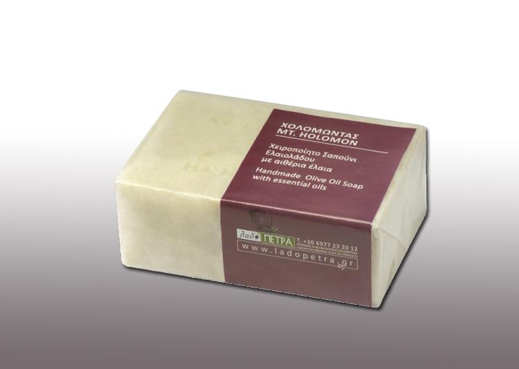 handmade olive oil soap  Mt. Holomontas 125gr