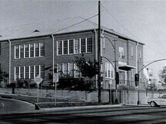 Saint Ann School in the 1940s.
