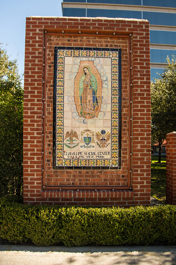 The original Virgin De Guadalupe monument  preserved in development of Saint Ann Restaurant.