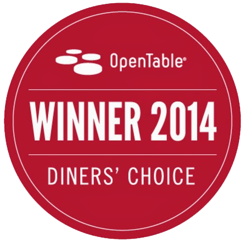 Diner's Choice Winner 2014 for outdoor dining!