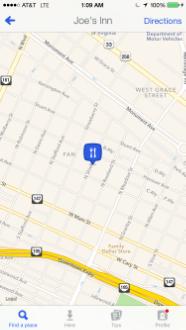Foursquare's Current UI