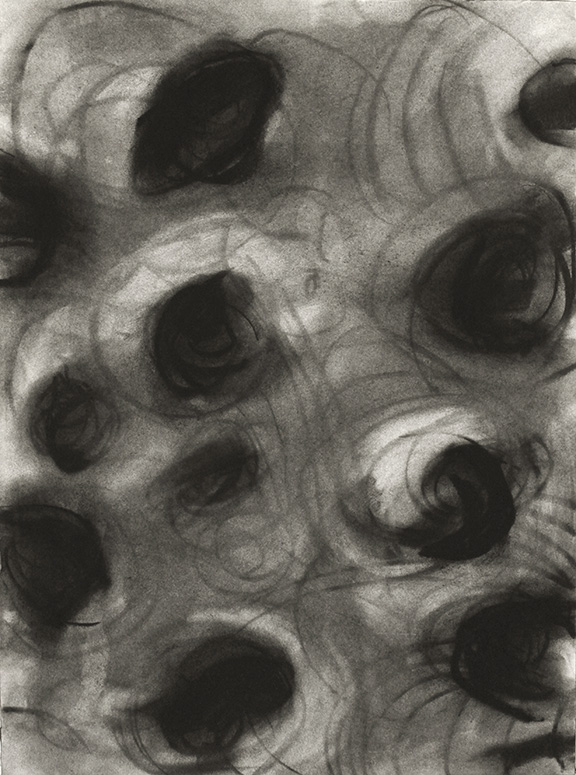 "Untitled 14.03      2014  Charcoal on Paper, 12"" x 9"""