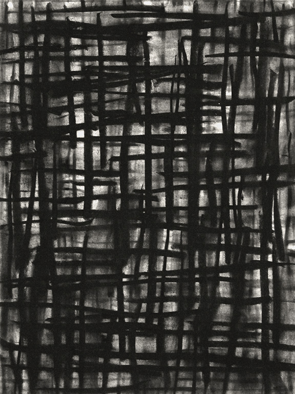 "Untitled 14.06      2014  Charcoal on Paper, 12"" x 9"""