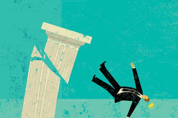 man falling off pedestal - free.png