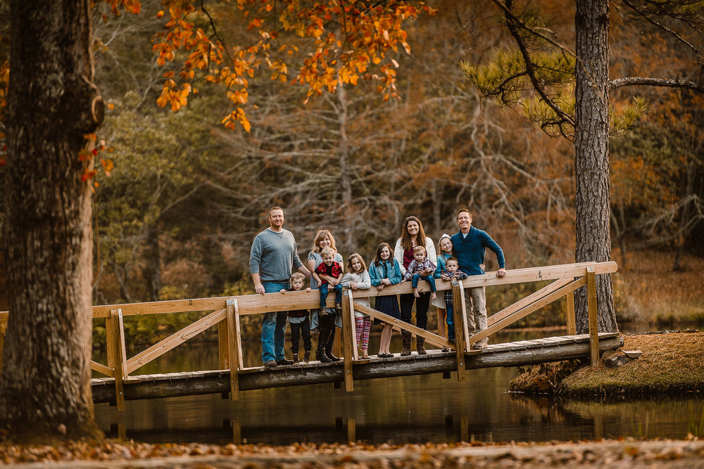 Group Family Portrait in South Carolina during Autumn