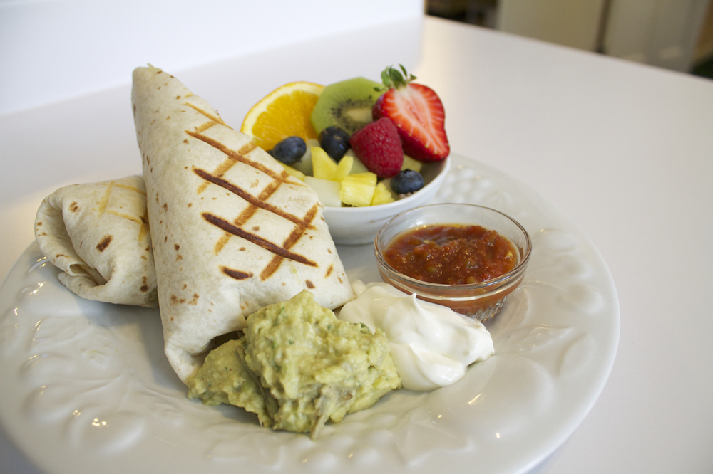 Breakfast Burrito at the Willard Street Inn