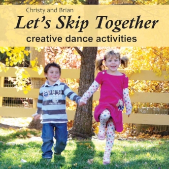 "Let's Skip Together - Listen Stories, songs and poems for creative dance movement, including ""The Dancing Doll,"" ""Butterflies in the Rain,"" and ""Rubberband Man."""