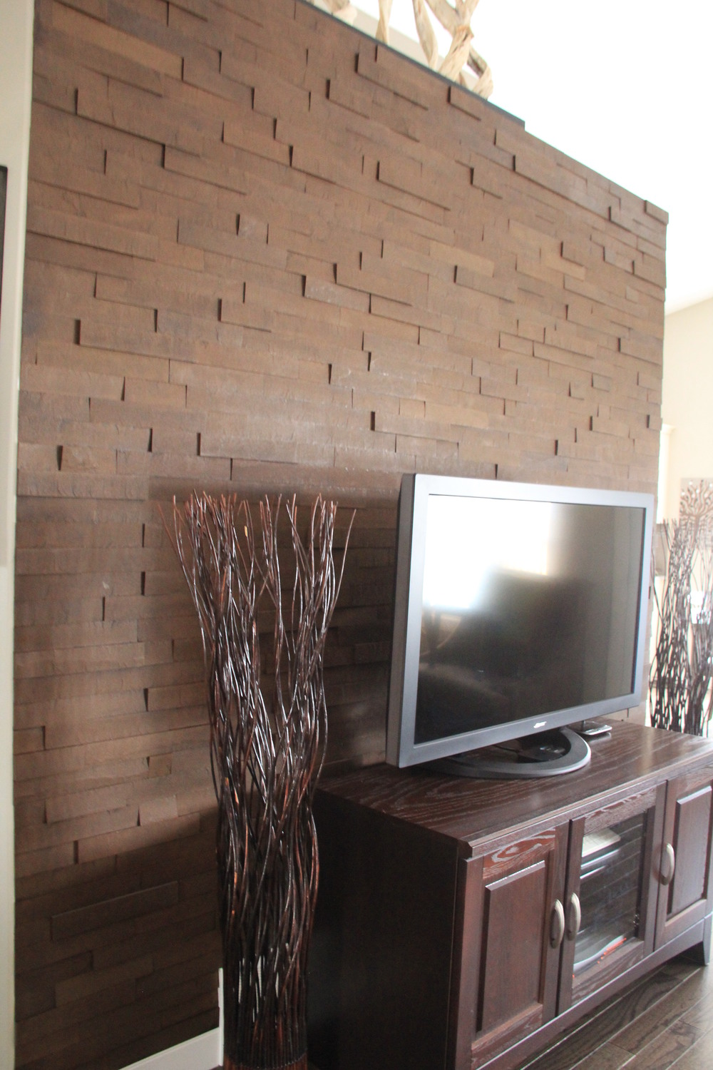 TV Wall - Whether your TV wall is a narrow wall or you want a thin strip on a much wider wall - this is an easy way to dress up any living space.