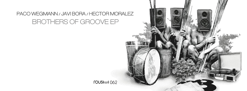 """Paco Wegmann and Javi Bora join forces with Hector Moralez on this """"Brothers of Groove"""" release. Three-time best artist of the year nominee, Javi Bora, has established himself and gained the recognition & respect as one the best DJ producers coming out of Spain. With cosigns from huge artist such as Richie Hawtin, DJ Sneak, & Laurent Garnier it's not hard to see why this is the case. Gracefully assisting Paco & Javi, Hector Moralez, an artist out of Oakland, California, and one of the most sought-after artists in the house music scene, expands the limits of the music he is featured on with his exceptional and versatile approach to producing. Combine the talents of these untouchable DJs and you've got the killer EP that is """"Brothers of Groove.""""  Smooth grooving folks!"""