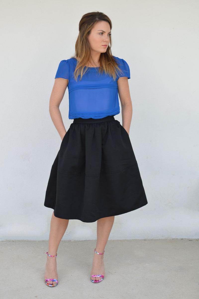 My Favorite Black Midi Skirt — FromCtoC