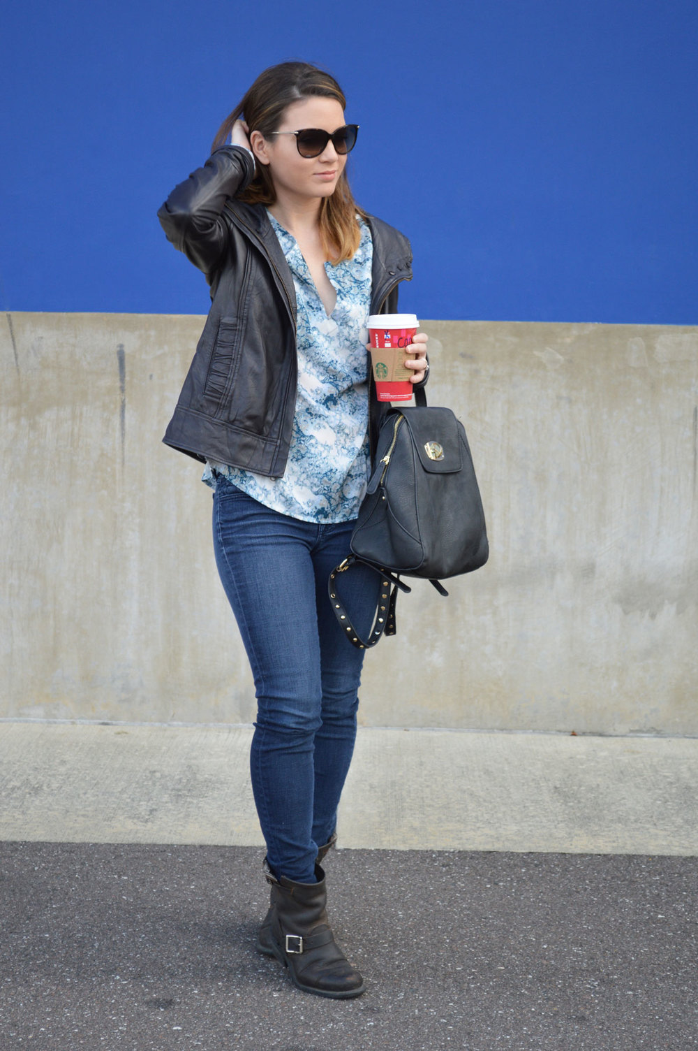 shoedazzle-backpack-wiw-fall-outfit-leather-jacket-forver21-favorite-frye-boots-marc-jacobs-sunglasses-starbucks-style-blogger-tampa-florida.jpeg