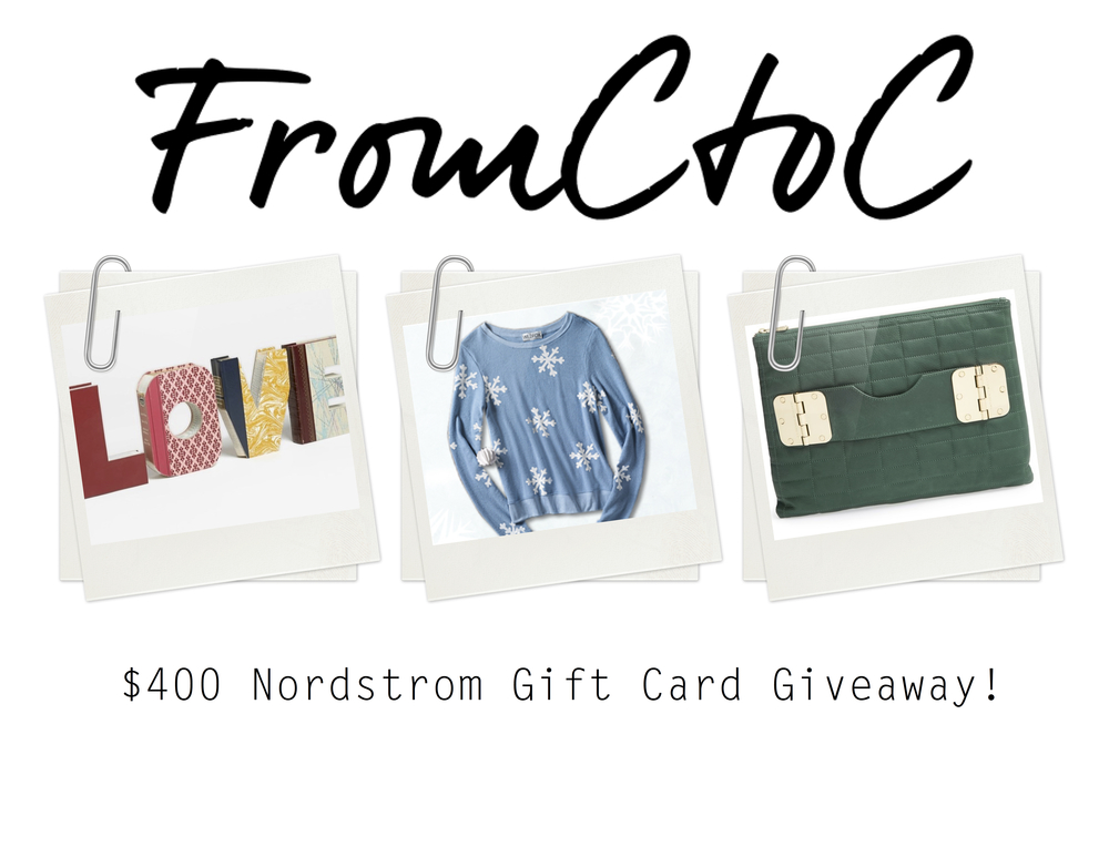FromCtoC Nordstrom Giveaway