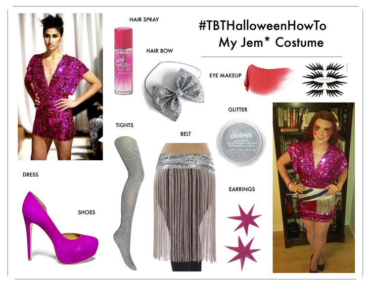 how to diy jem holograms halloween costume kami