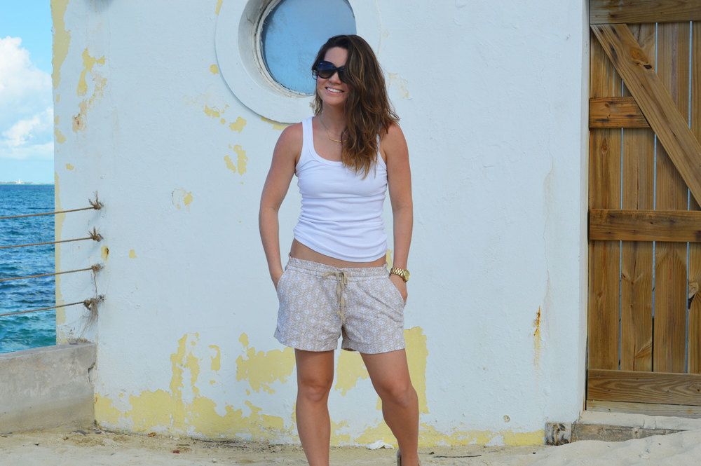 Old-Navy-drawstring-shorts-Ray-Ban-cat-sunglasses-Giveaway-Nassau-Bahamas-top-Style-Blogger-FromCtoC-Michael-Kors-Watch.jpeg