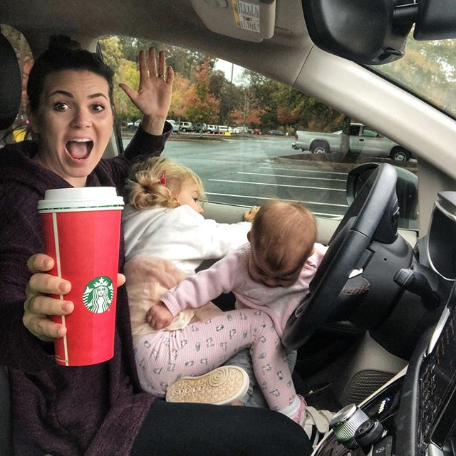 Yesterday I was scrolling through my Instagram feed and saw THREE bloggers posing with their Starbucks cups in their car. THREE. In a row. Of course I deep dived to figure out what on God's green earth was going on. Were they in a giveaway together or something? Nope. This is just a thing now. So I figured we would give it a try. I think we nailed it. . . . . . . #momitforward #mytinymoments #mynameismama #ourcandidlife #momcommunity #motherhoodrising #momentsinmotherhood #lifeasmama #igmotherhood #motherhoodinspired #storytellingmama #messy_motherhood #ohmamamoment #mommylifestyle #motherlove #momlife #uniteinmotherhood #honestmotherhood #honestlymothering #myhonestmotherhood #momhub #momsofig #themotherhoodcorner #motherhoodunplugged