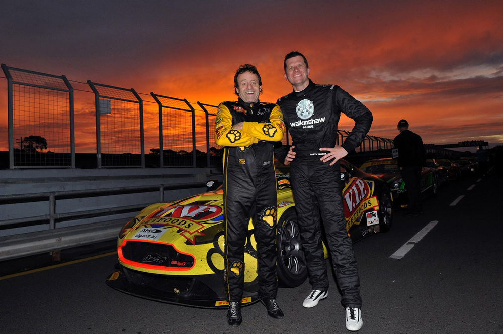 Tony Quinn (L) and Garth Tander will be pairing up for the Highlands 101 endurance race