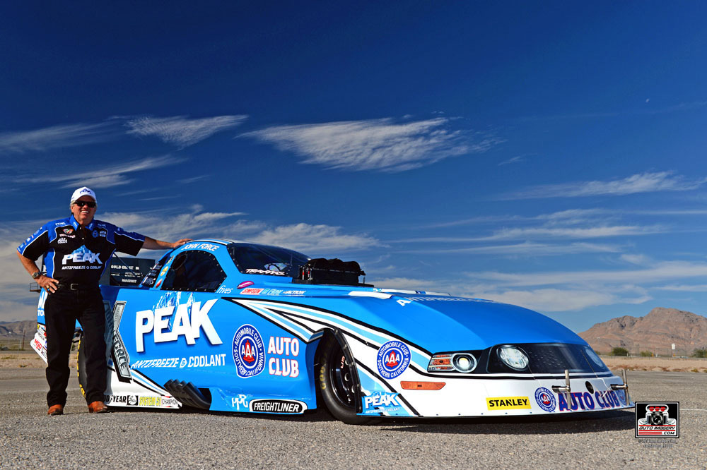 John Force Racing will be sponsored by Peak Antifreeze and Coolant for the 2015 NHRA season