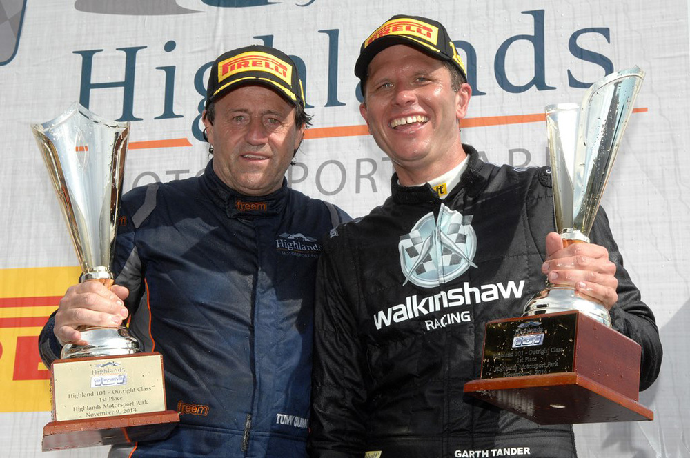 Tony Quinn and Garth Tander win the Highlands 101 endurance race