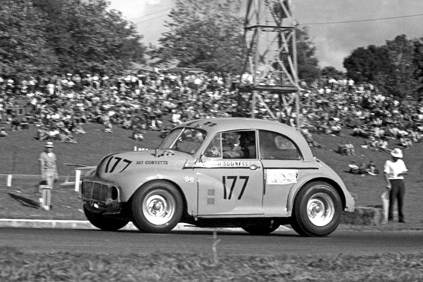 The Morrari — seen here at Pukekohe in 1966 / Photo: Terry Marshall