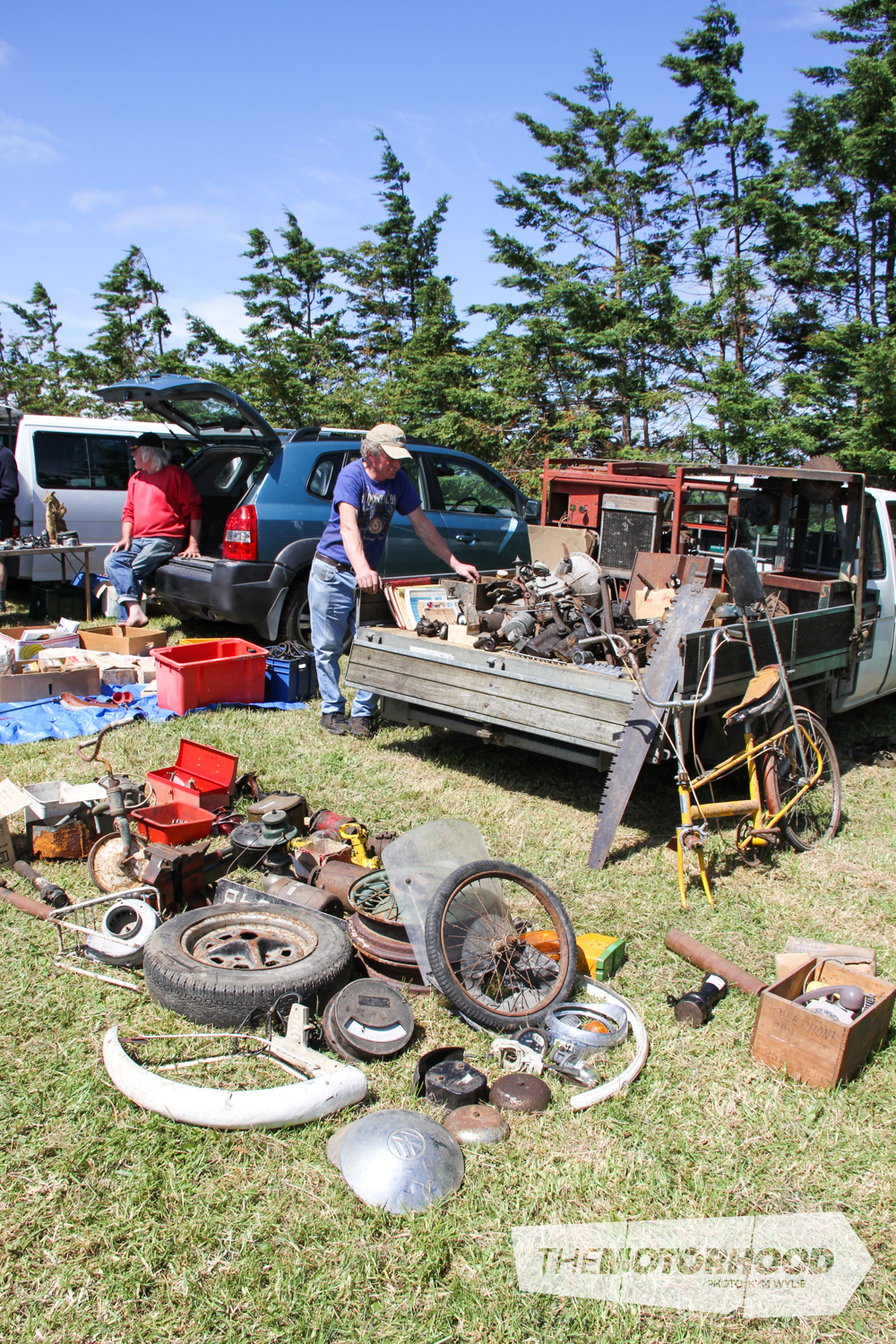 Plenty of old and rare car parts were up for grabs at the swap meet