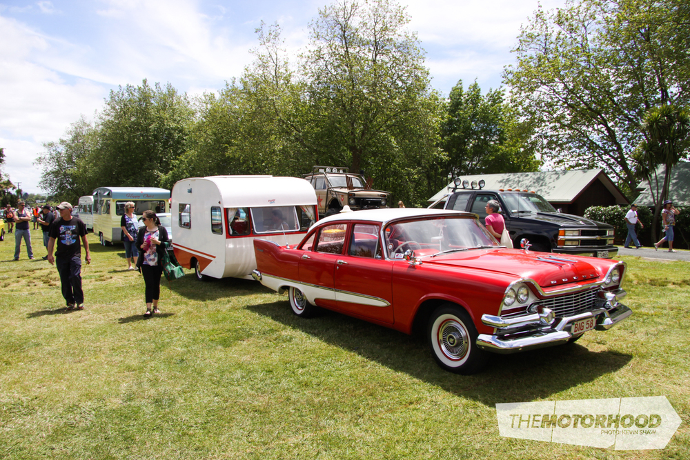 Caravan owners were more than willing to take showgoers on a tour of their caravans