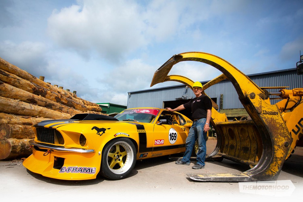 Bruce Anderson and his 1969 Ford Mustang