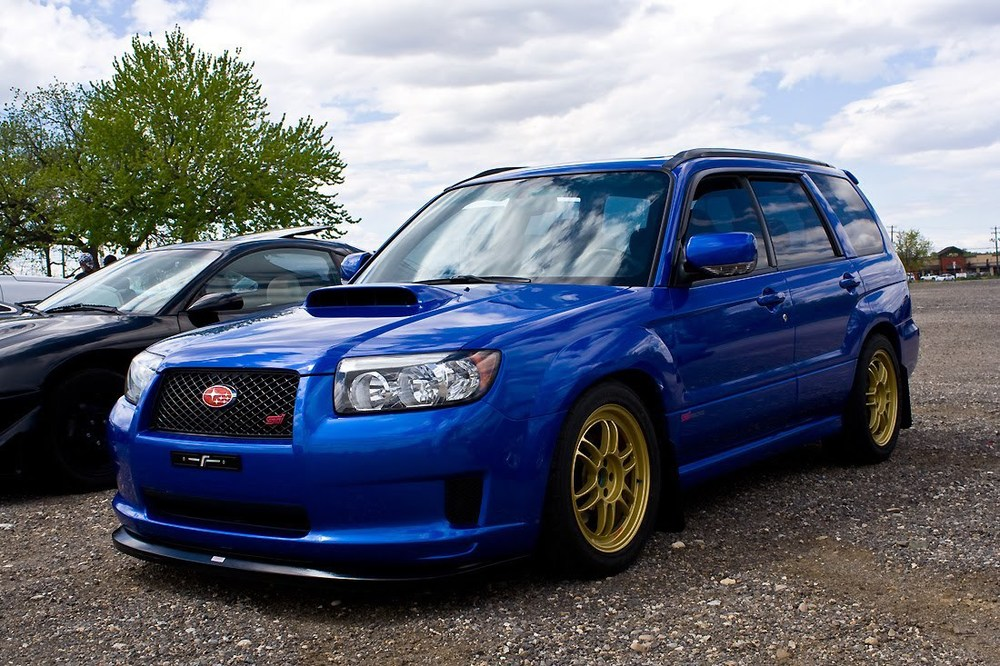 An older model shape of the STI Forester